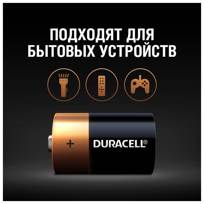 Duracell Basic D - рабочее напряжение: 1.5В
