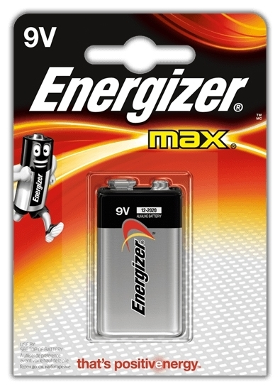 Energizer Max 9V/Крона - типоразмер: Крона
