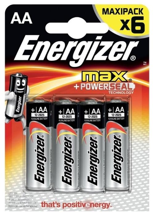 Energizer Max AA/LR6 - тип: батарейка