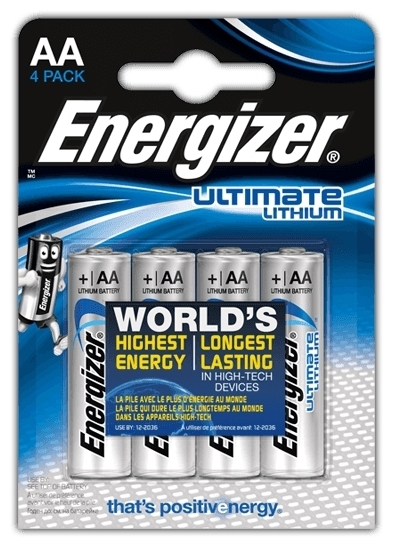 Energizer Ultimate Lithium AA - емкость: 3000мА·ч