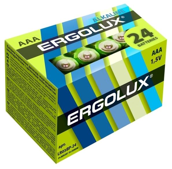 Ergolux Alkaline AAA - технология: щелочная