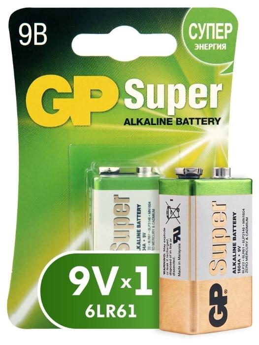 GP Super Alkaline 9V Крона - типоразмер: Крона