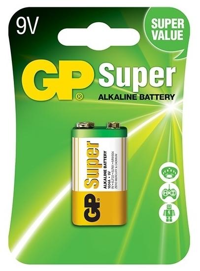 GP Super Alkaline 9V Крона - тип: батарейка