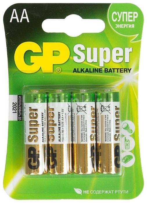 GP Super Alkaline AA - рабочее напряжение: 1.5В