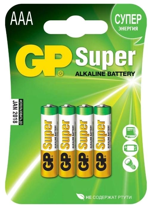 GP Super Alkaline AAA - технология: щелочная