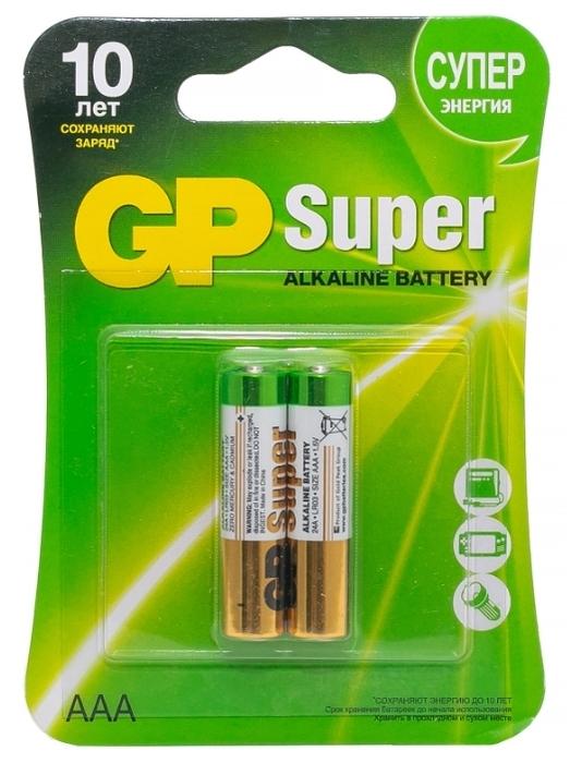 GP Super Alkaline AAA - емкость: 1150мА·ч