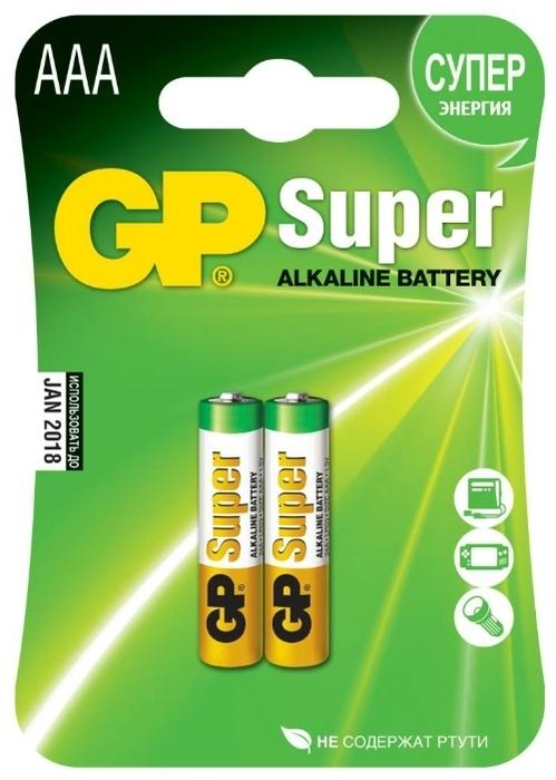 GP Super Alkaline AAA - рабочее напряжение: 1.5В