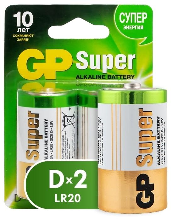 GP Super Alkaline D - типоразмер: D