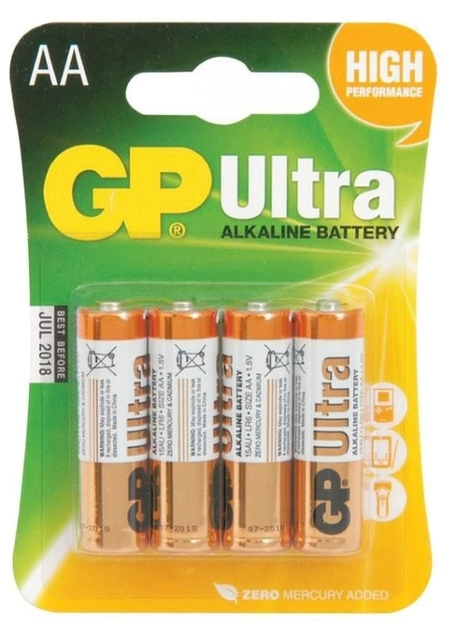 GP Ultra Alkaline AA - типоразмер: AA