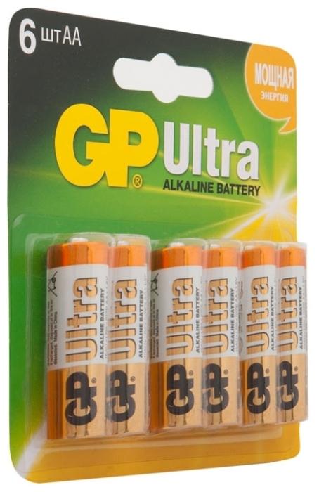 GP Ultra Alkaline AA - рабочее напряжение: 1.5В