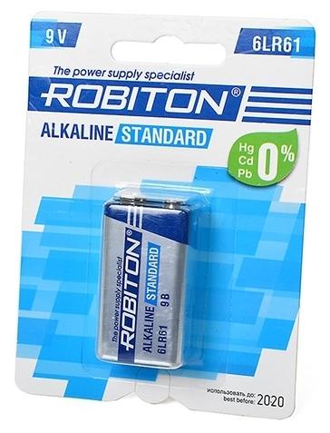 ROBITON Alkaline Standart 6LR61 Крона - рабочее напряжение: 9В
