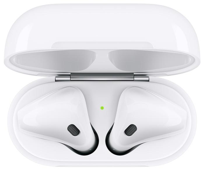 Apple AirPods 2 с зарядным футляром MV7N2 - зарядка: Lightning