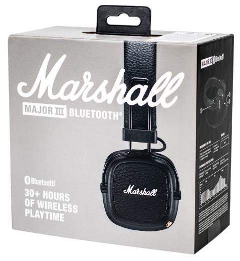Marshall Major III Bluetooth - вес: 178г