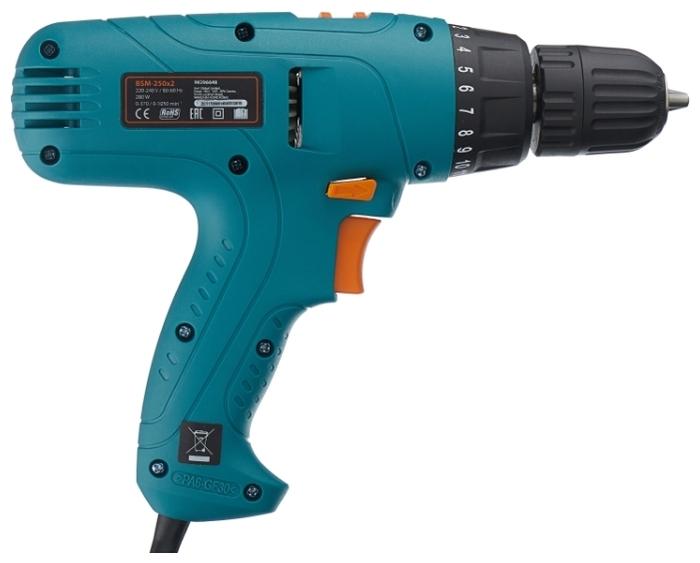 Bort BSM-250x2, 280 Вт - особенности конструкции: блокировка кнопки включения, регулировка частоты вращения