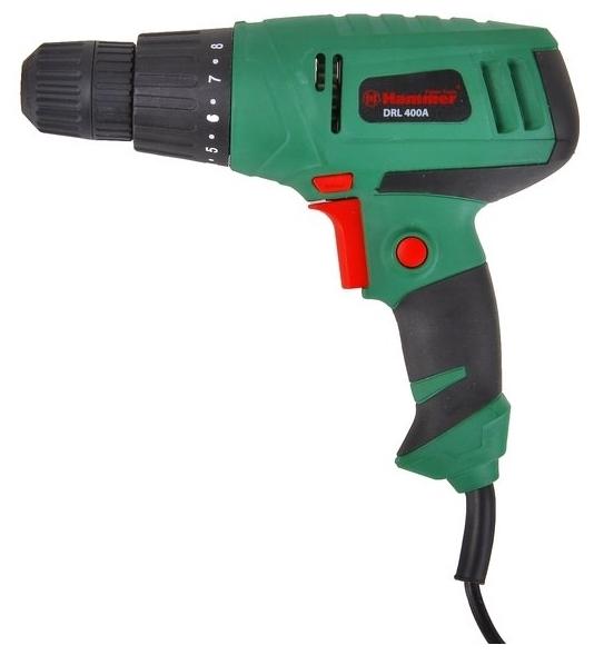 Hammer DRL400A, 280 Вт - макс. диаметр сверления (дерево): 20мм