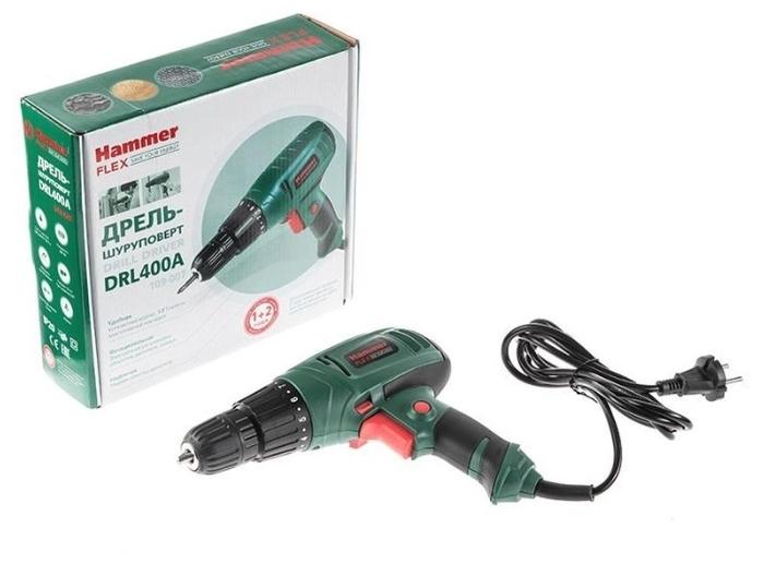 Hammer DRL400A, 280 Вт - макс. число оборотов холостого хода: 750об/мин