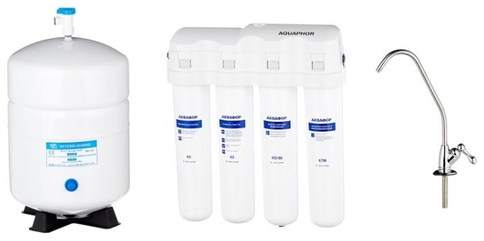 Аквафор ОСМО-Кристалл 50 исполнение 4М с обратным осмосом - функция очистки: очистка от свободного хлора, минерализация, обезжелезивание, обратный осмос, умягчение, механическая фильтрация, ионный обмен, угольная фильтрация