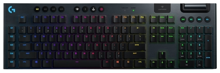 Logitech G G915 Tactile Switch RGB Black USB - тип: механическая