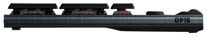 Logitech G G915 Tactile Switch RGB Black USB - особенности: регулятор уровня громкости
