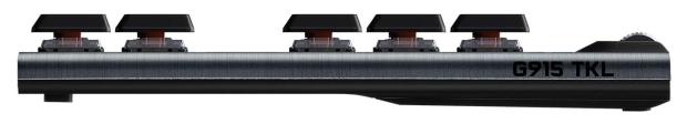 Logitech G G915 TKL Carbon - подсветка: зональная