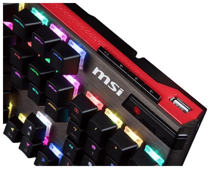 MSI Vigor GK-80 Black USB - подключение: проводная