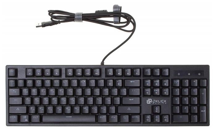 OKLICK 940G VORTEX Black USB - размеры: 440x38x135мм, вес: 1100г