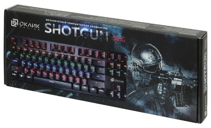 OKLICK 969G SHOTGUN Black USB - подключение: проводная