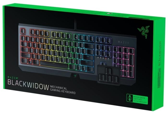 Razer BlackWidow (2019) Black USB - количество клавиш: 104, с цифровым блоком