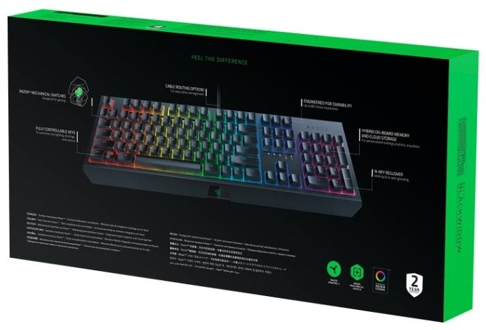 Razer BlackWidow (2019) Black USB - ход клавиш: 4мм
