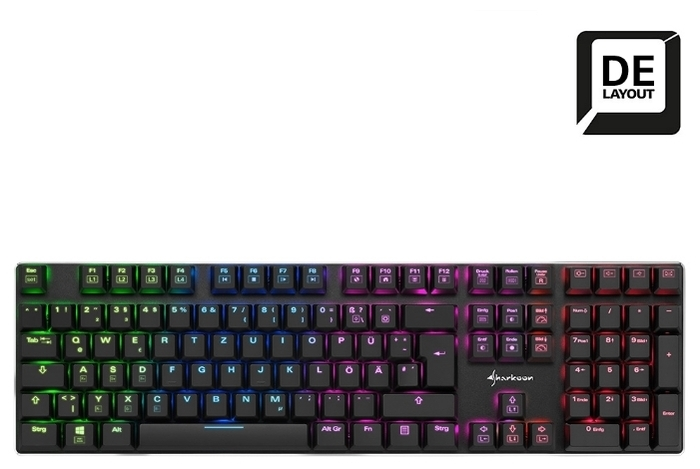 Sharkoon PureWriter RGB (Kailh Red) Black USB - подсветка: да