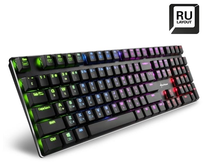 Sharkoon PureWriter RGB (Kailh Red) Black USB - размеры: 436x35x127мм, вес: 642г