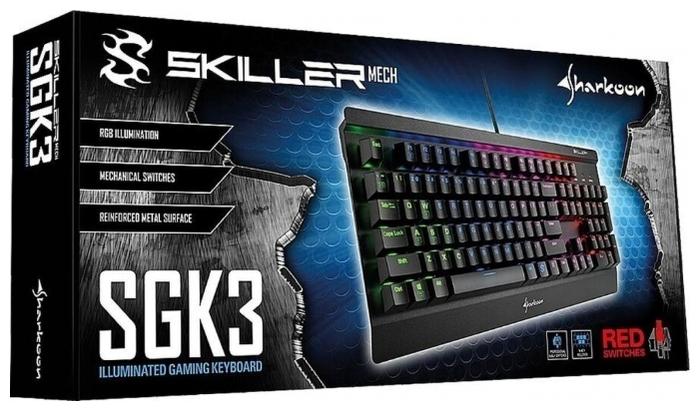 Shark Skiller Mech SGK3 (Kailh Red) Black USB - кабель: USB (1.8м)