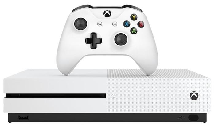 Microsoft Xbox One S 1 ТБ - объем встроенной памяти: 1024ГБ HDD