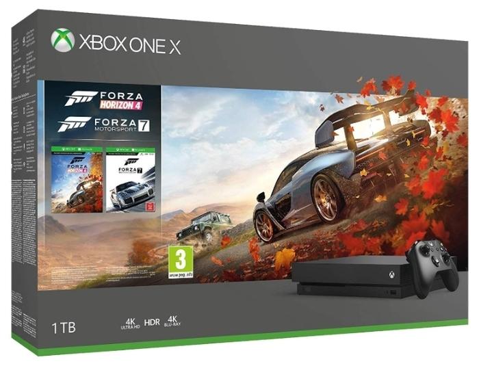 Microsoft Xbox One X 1 ТБ - тип: стационарная c оптическим приводом