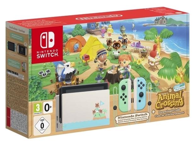 Nintendo Switch 32 ГБ Особое издание Animal Crossing: New Horizons - проводные интерфейсы: USB x2, HDMI