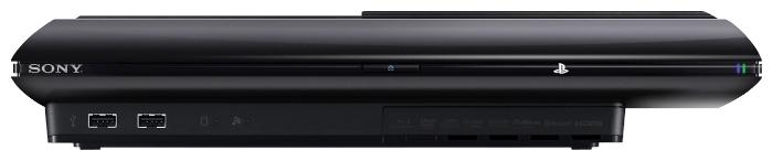 Sony PlayStation 3 Super Slim 12 ГБ - проводные интерфейсы: AV-выход, USB x2, HDMI, выход аудио оптический, Ethernet