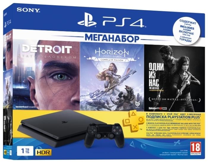 Sony PlayStation 4 Slim 1 ТБ - вес: 2100г