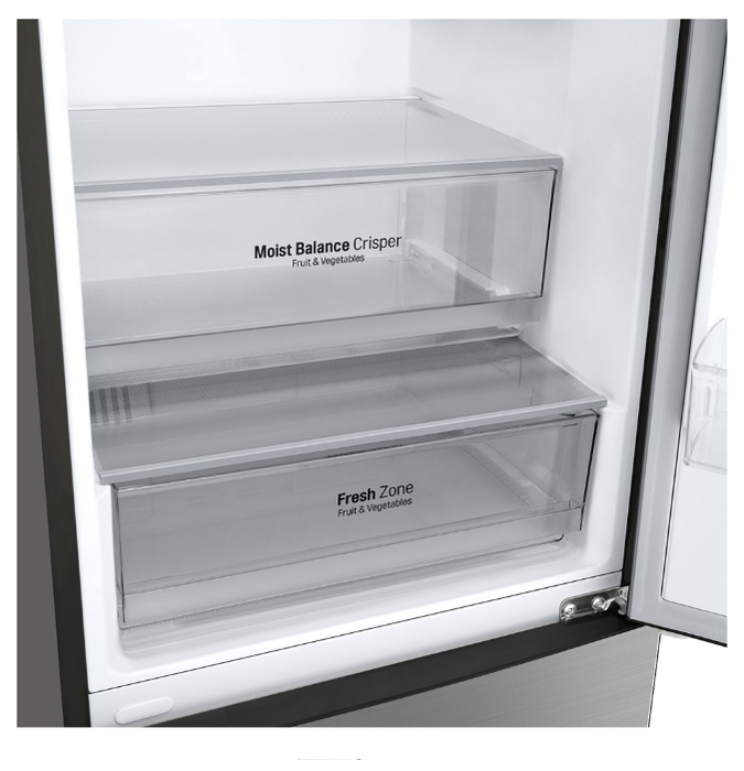 LG DoorCooling+ GA-B509CAQZ - объем холодильной камеры: 277л