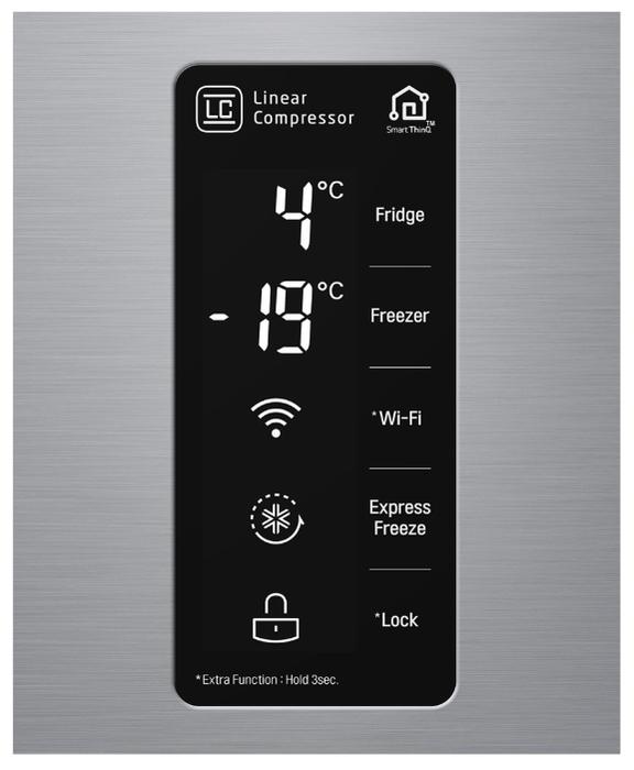LG DoorCooling+ GC-B247SMDC - количество компрессоров: один