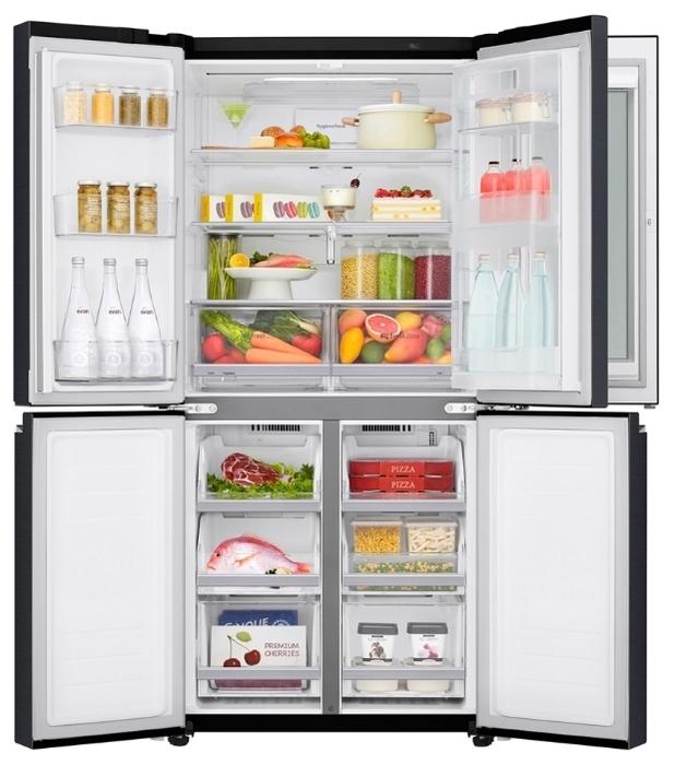 LG DoorCooling+ GC-Q22 FTBKL - объем холодильной камеры: 315л
