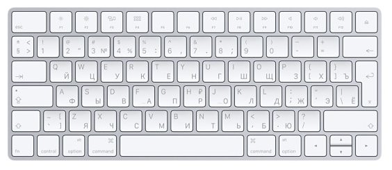 Apple Magic Keyboard White Bluetooth - тип: мембранная