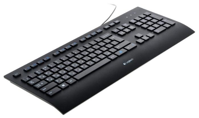 Logitech Corded Keyboard K280e Black USB - подключение: проводная