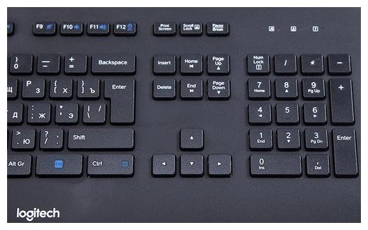 Logitech Corded Keyboard K280e Black USB - количество клавиш: 104, с цифровым блоком