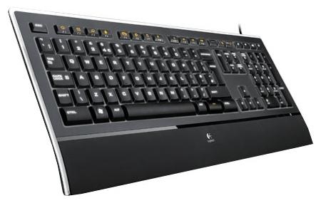 Logitech Illuminated Keyboard K740 Black USB - подключение: проводная