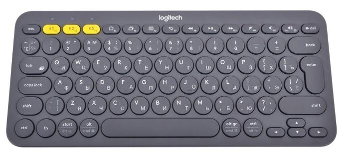 Logitech K380 Multi-Device Dark Grey Bluetooth - тип: мембранная