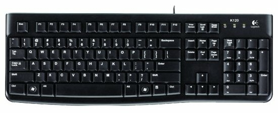 Logitech Keyboard K120 EER Black USB - тип: мембранная