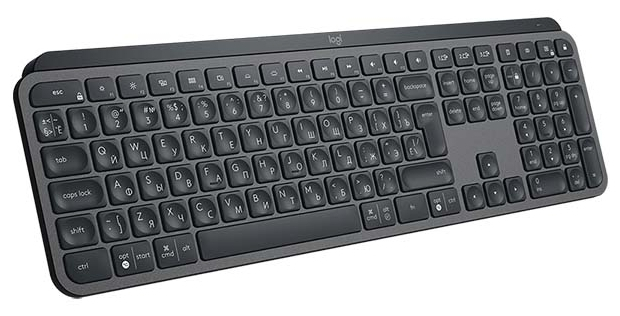 Logitech MX Keys - количество клавиш: 104, с цифровым блоком