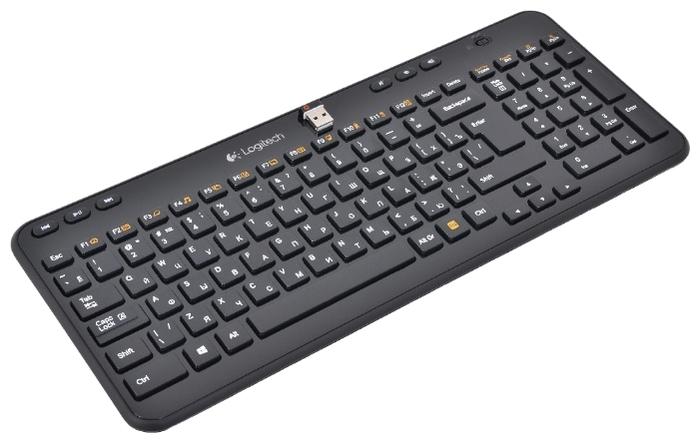 Logitech Wireless Keyboard K360 Black USB - подключение: беспроводная (радиоканал)