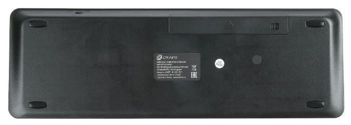 OKLICK 830ST Black USB - особенности: тачпад