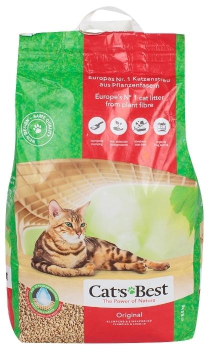 Cat s Best Original, 20 л/8.6 кг - биоразлагаемый, с защитой от запаха, смываемый